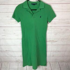 Ralph Lauren Sport polo shirt dress green XS